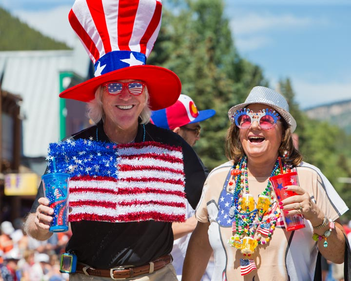 couple enjoying Crested Butte, Colorado on the 4th