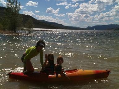 kayaking on the blue mesa