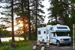camping at developed campground