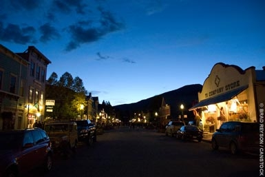 Quiet night on elk avenue, crested butte