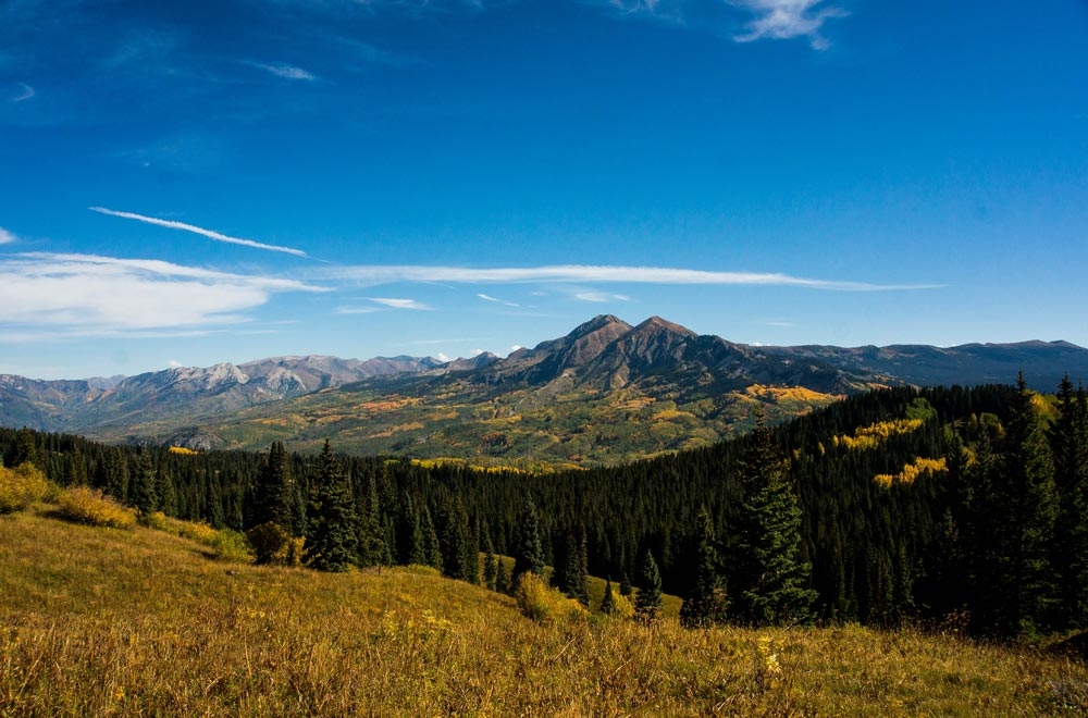 The view from Kebler Pass in the fall