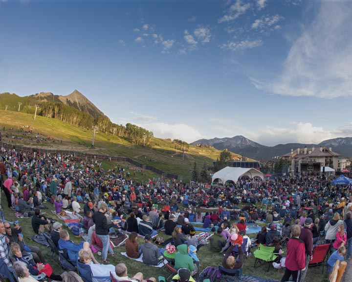 summer concert series in Mt. Crested Butte