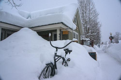 rumors on a snowy day in january crested butte