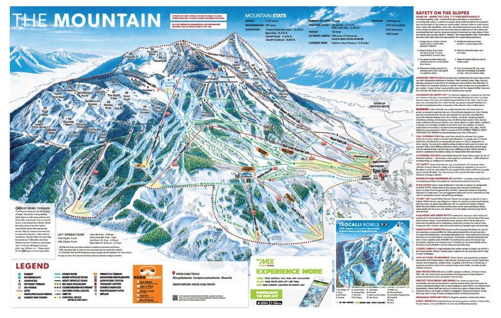 crested butte ski vacation map
