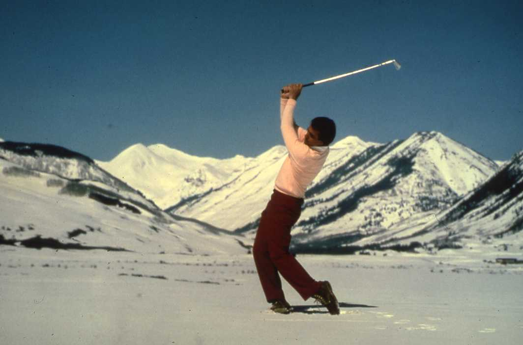 snow golf in crested butte