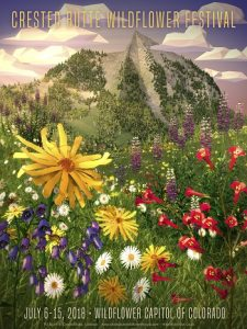 crested butte wildflower festival 2018 poster