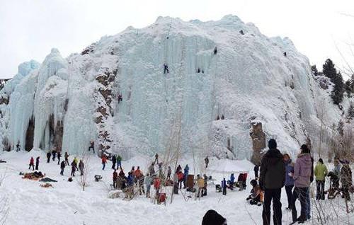lake city ice climbing park