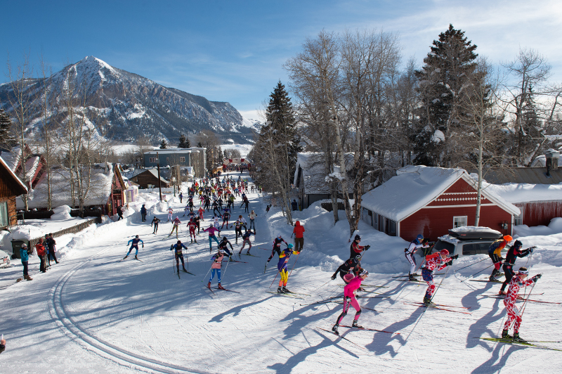 Crested Butte winter event the alley loop nordic ski race