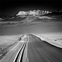crested butte in black and white