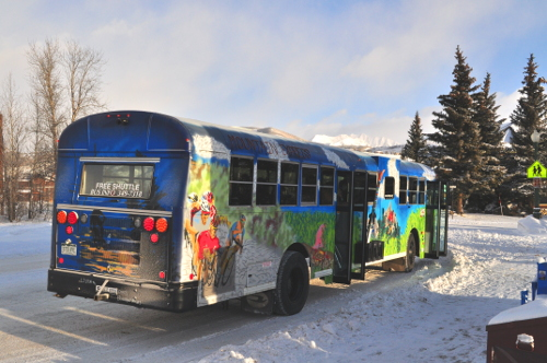 mountain express free bus in crested butte mt. crested butte