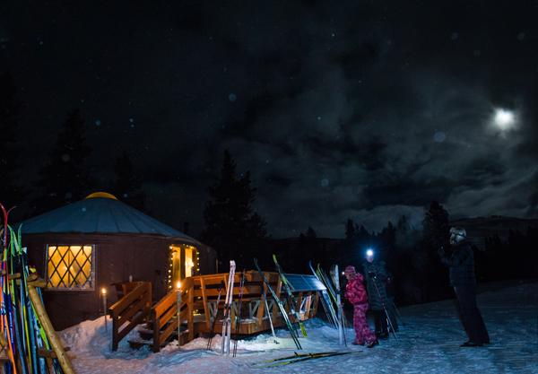 magic meadows yurt dinner
