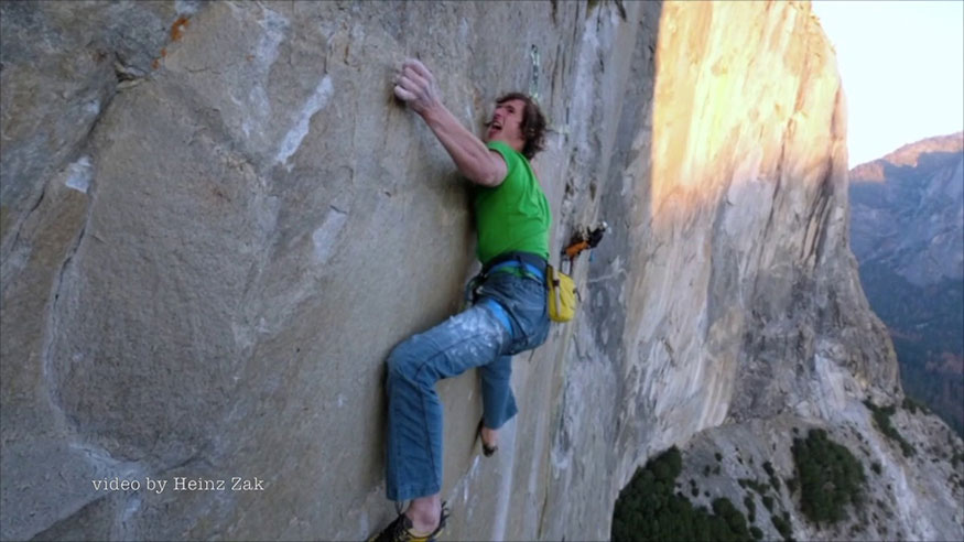 Climber on the Dawn Wall from the Film of the Same Name