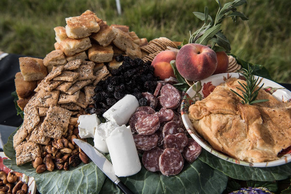 farm to table spread at feast in the field crested butte
