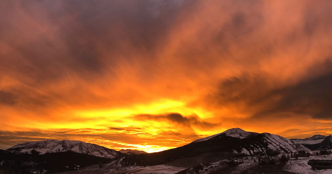 sunset over crested butte