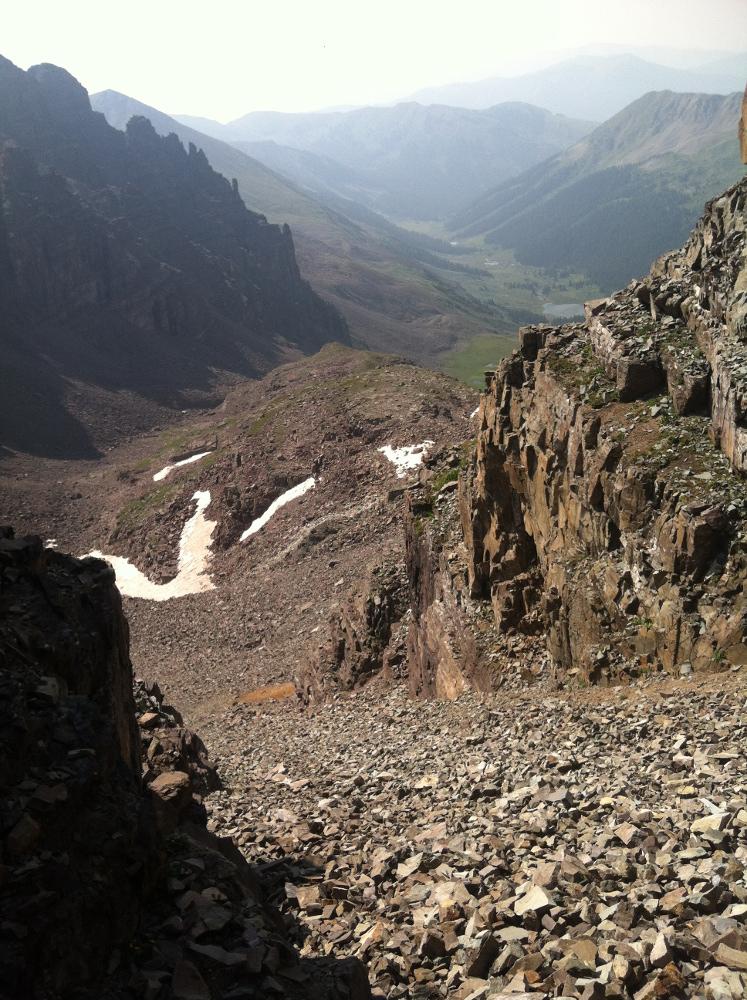 southwest ridge castle peak crested butte
