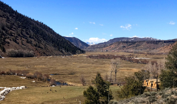 cebolla creek valley and powderhorn colorado from the south