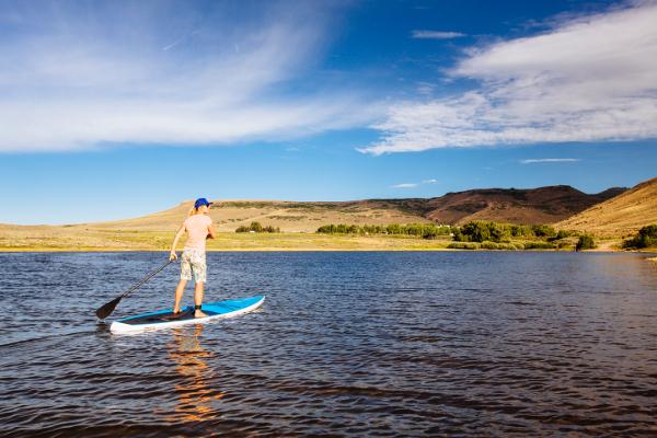 sup on blue mesa reservoir gunnison colorado