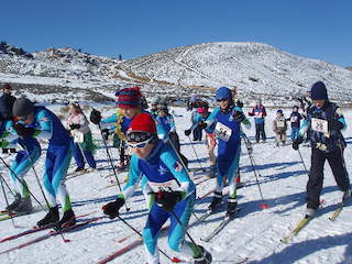 nordic ski race start kenny mac