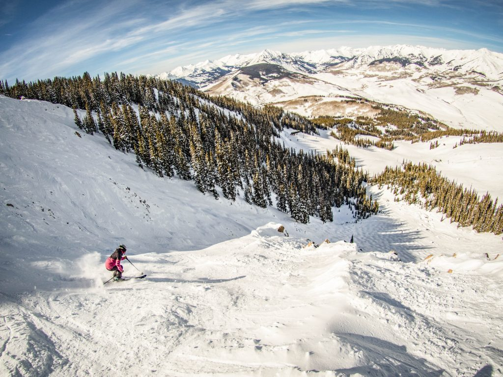 Downhill skiing at Crested Butte Mountain Resort, Crested Butte, Colorado