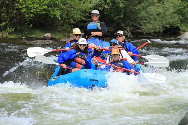 Whitewater rafting the Taylor River Almont Colorado