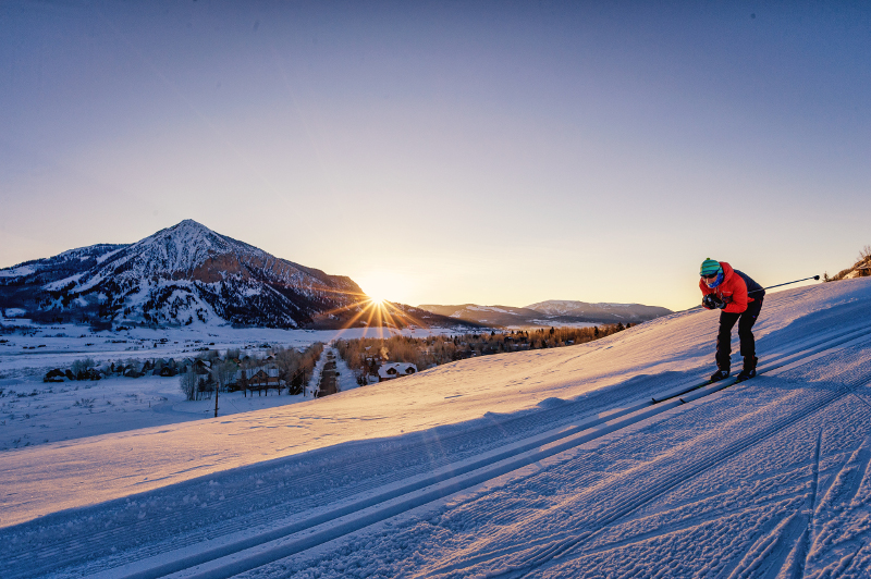 nordic skiing crested butte
