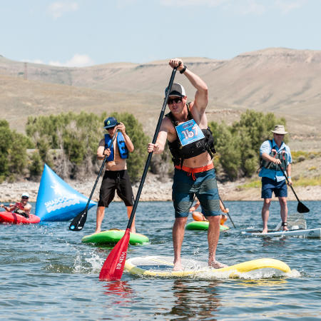 SUP Race at the Blue Mesa Beach Bash
