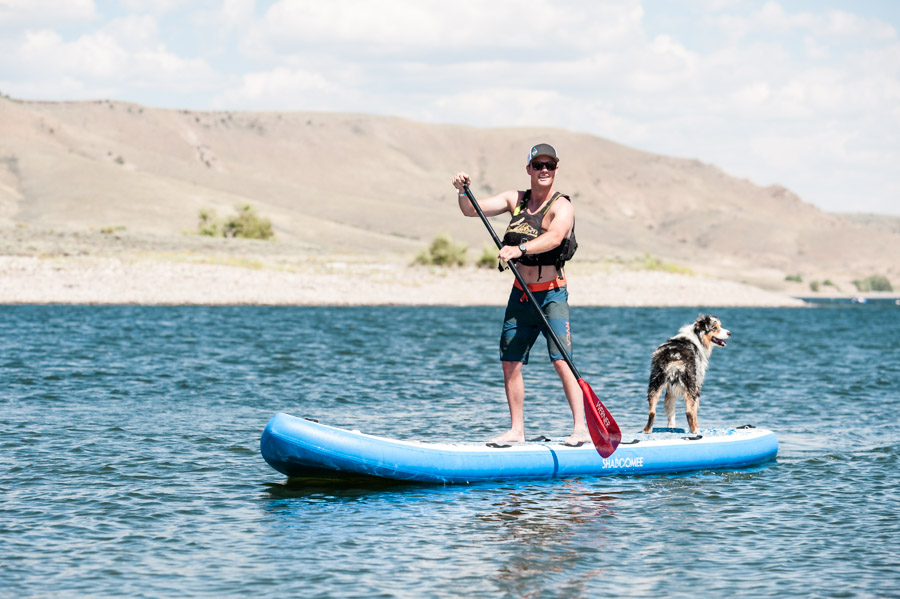 stand up paddleboarding the blue mesa reservoir