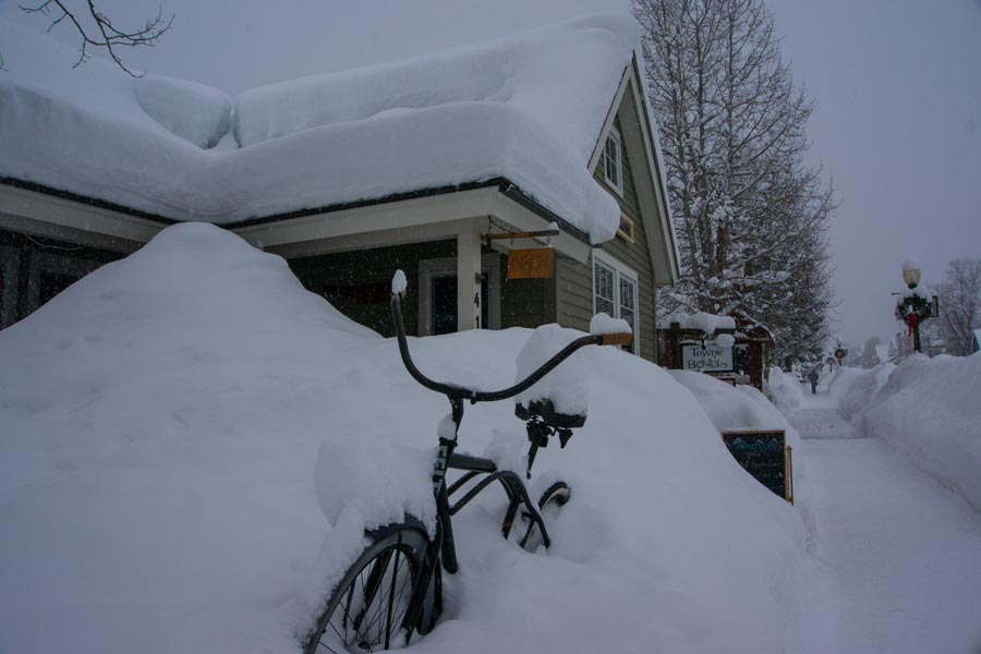 a Crested Butte style bike rack