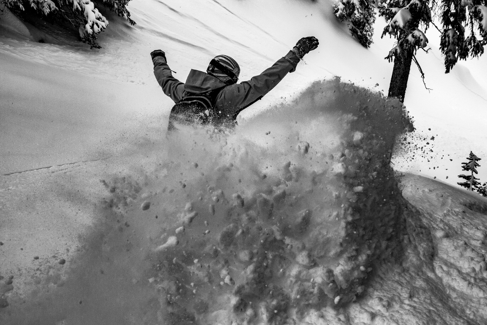 pow surfin in crested butte colorado
