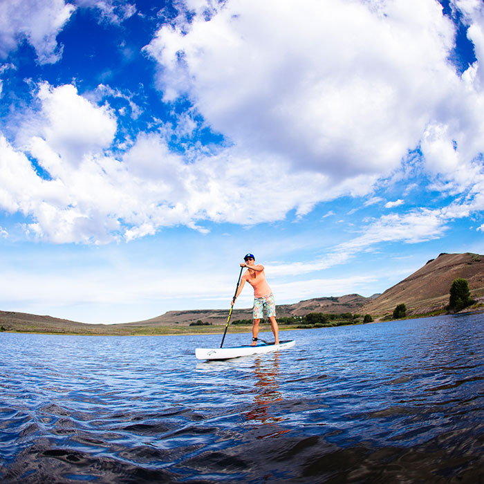 Stand Up Paddleboarding on Blue Mesa Reservoir