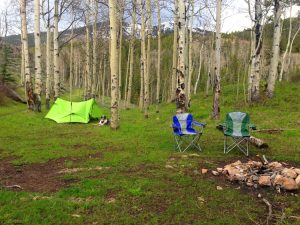 camping near Crested Butte, CO