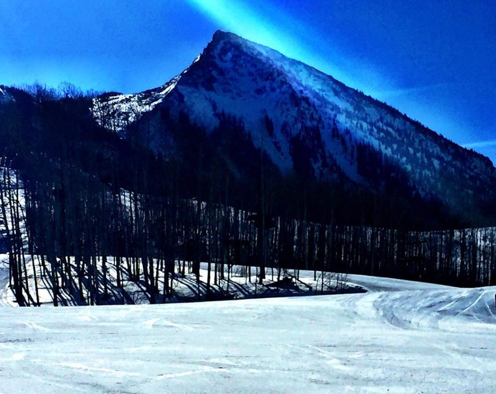 Jeff Game's shot of a snowy Crested Butte from last winter.