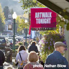 crested butte, artwalk, evening