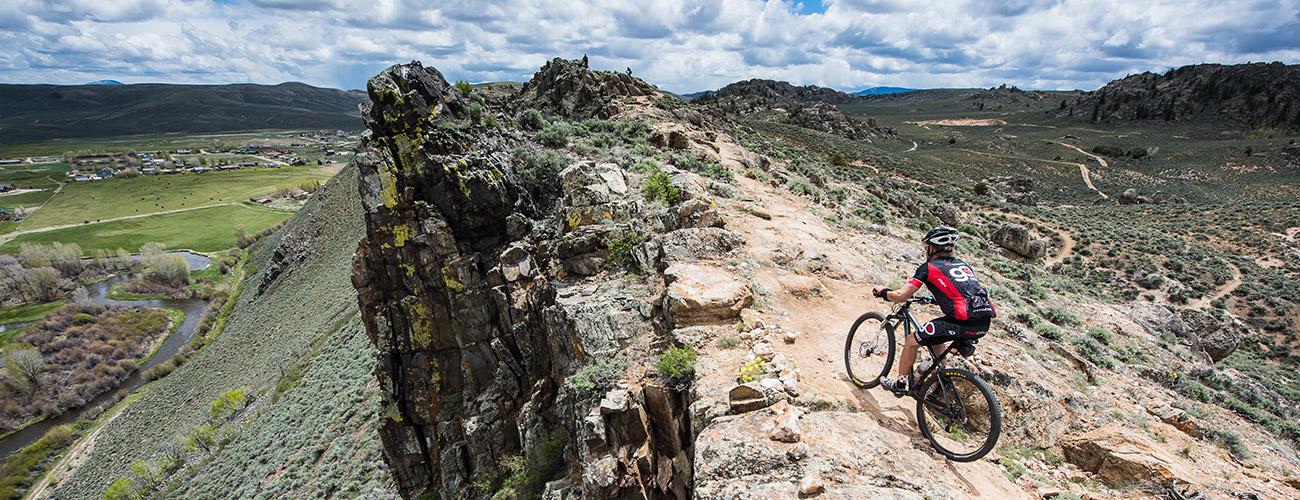 Rider on the Ridge Trail in Gunnison, CO