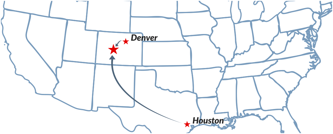 non-stop flights to Gunnison-Crested Butte from Houston