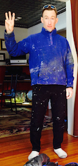 Dork Suit for painting in extreme cold