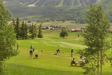 golfing in Crested Butte
