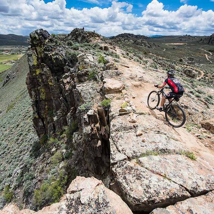 Rider on the Ridge Trail at Hartman Rocks, Gunnison, CO