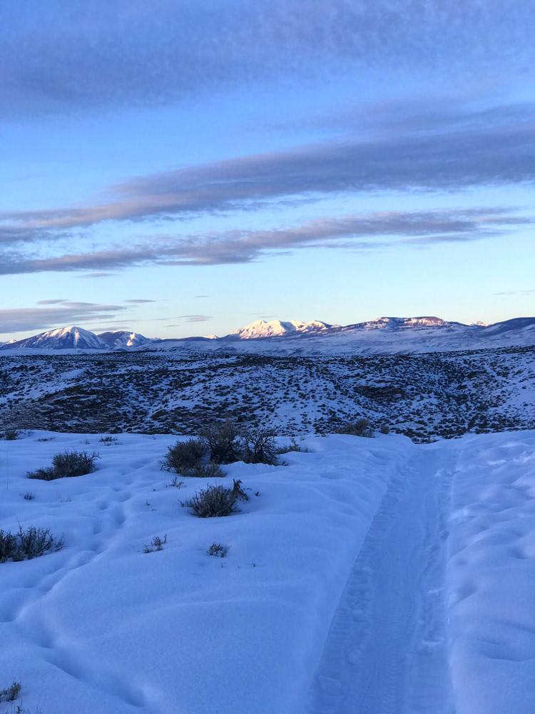 View of hartman rocks nordic skiing gunnison