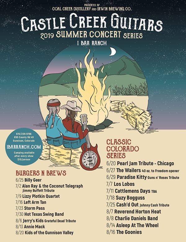 Summer events concert series at the I Bar Ranch in Gunnison, CO