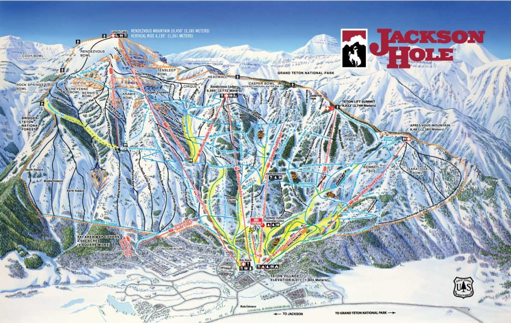 jackson hole vs crested butte ski map