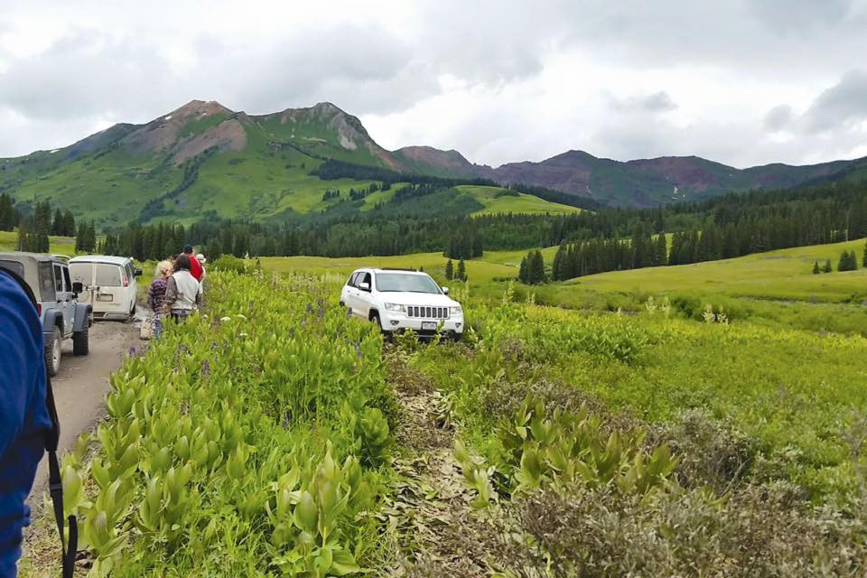 jeep stuck in gothic meadow