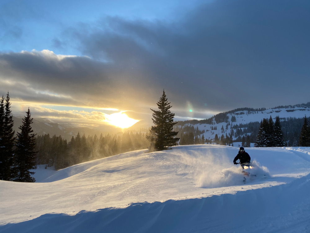Colorado Snowmobiling Kebler Pass near Crested Butte