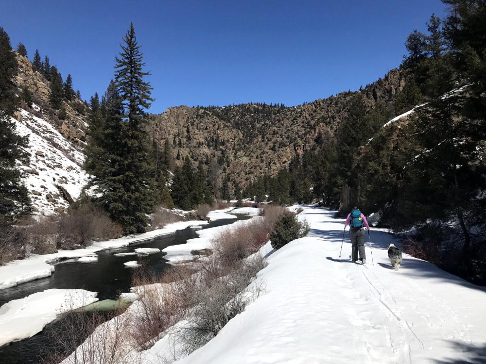 Lake fork railroad grade nordic skiing gunnison colorado