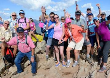 living journeys, fundraiser, summit hike