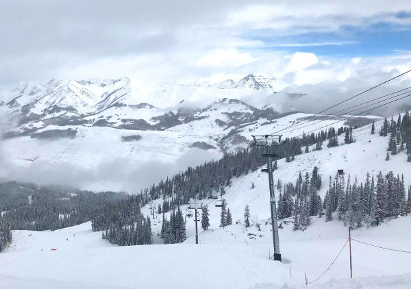 view from paradise lift snowy morning crested butte