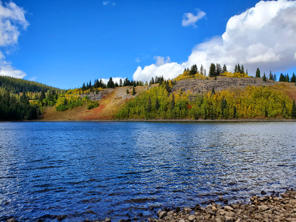 Fall fishing at rainbow lake gunnison colorado