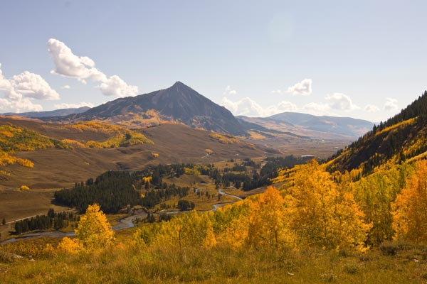 View of Crested Butte Mountain from Red Lady hike