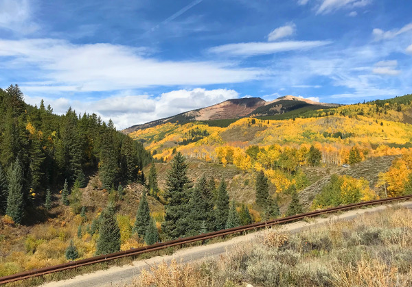 red lady peak fall color
