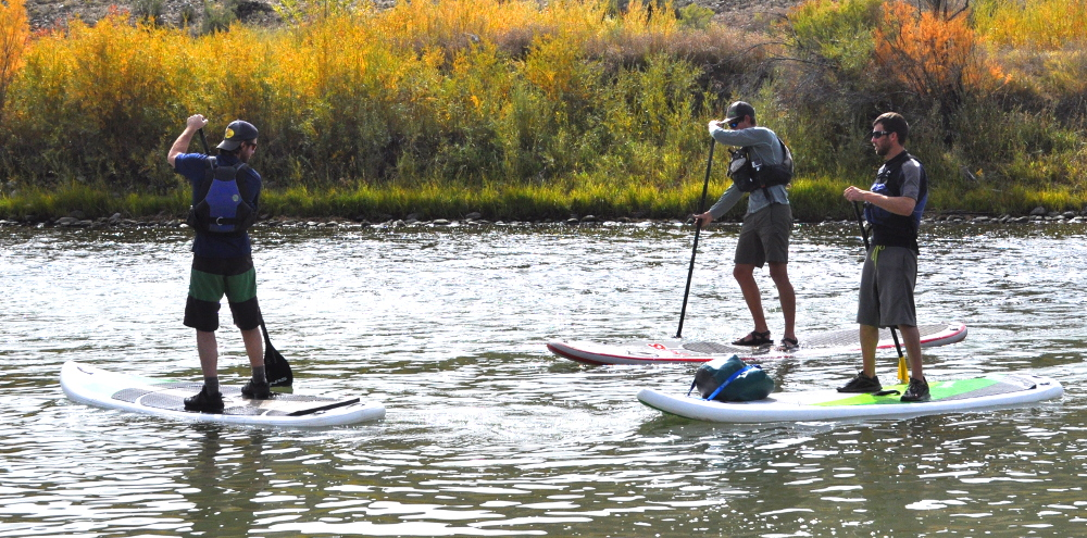 river SUPing the gunnison